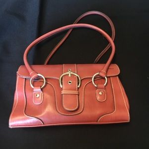 Handbags - Genuine leather red satchel with wallet